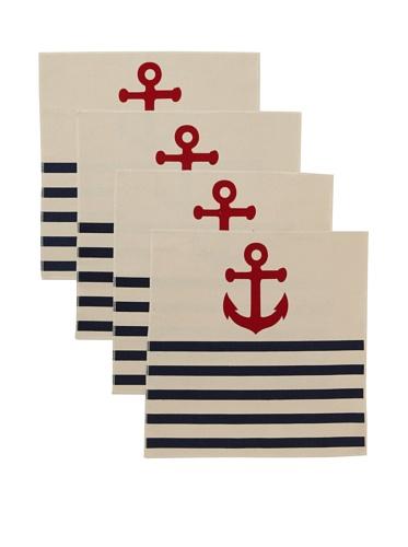 Thomas Paul Anchor Napkin Set (Denim)