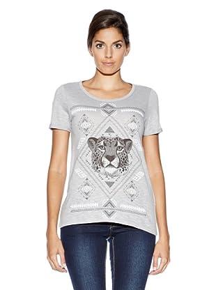 Vero Moda Camiseta Print Leopardo (Gris)