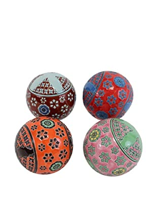 Set of 4 Decorative Filler Balls, Assorted