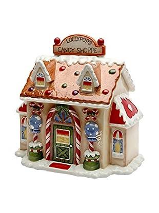 Cosmos Ceramic Santa's Village Candy Jar