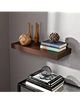 DecorNation Floating Wall Shelf 24 Inches (Brown)