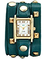La Mer Collections Women's LMLW1010G Gold-Tone Stainless Steel Watch with Wraparound Teal Leather Band