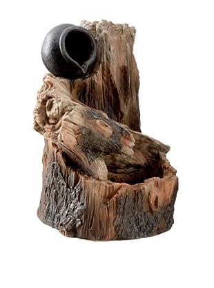 Melrose International Wood-Look Stump Outdoor Fountain