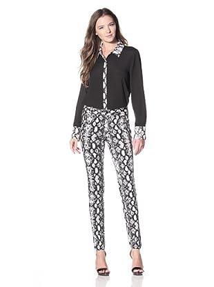 Calvin Klein Women's Printed Slim Pant (Birch Multi)