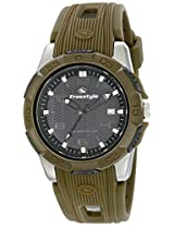 Freestyle 10016968 Kampus Men's Analog Round Stainless Steel Watch Green Rubber Strap