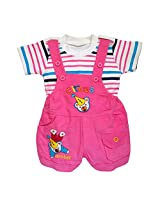 Littly Baby Dungaree Set (Pink)