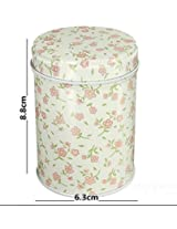 Double Cover Cylinder Tea Boxes Food Storage Caddy Tins Canister