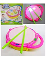 Musical Drum with Colorful Led Lights and Drum Sticks