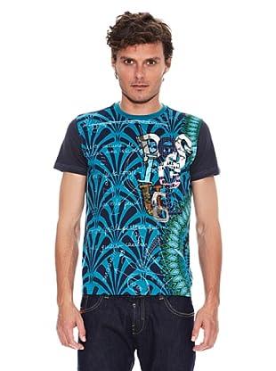 Desigual Camiseta Yohan (Gris Antracita / Azul)