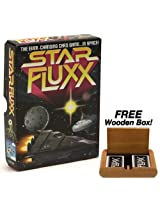 Star Fluxx The Ever Changing Card Game... In Space! Plus FREE Wooden Box!