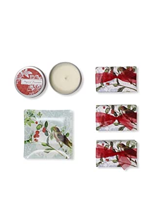 Mudlark Set of 3 Hand-Crafted Soaps in Soap Dish with a Candle Tin, Alise
