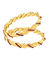 Mahi daily wear Gold Plated Timeless Glamour Bangles with CZ for Women BA1105052G
