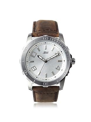 JBW Men's J6281G Brown/Silver Stainless Steel Watch