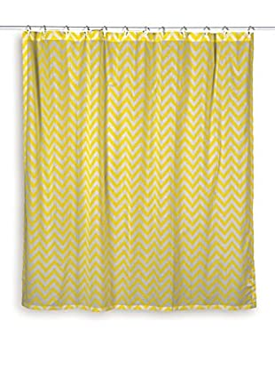 Rizzy Home Yellow Chevron Shower Curtain