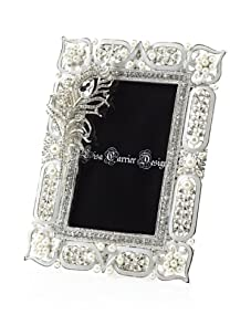 """Lisa Carrier White 4"""" x 6"""" Feather Frame"""