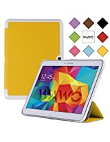 WAWO Samsung Galaxy Tab 4 10.1 Inch Tablet Smart Cover Creative Fold Case - Yellow