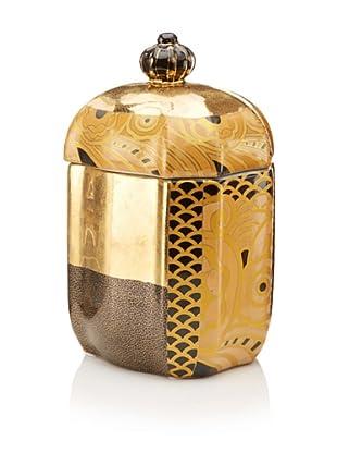 Castilian Jar (Brown/Metallic Gold)