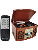 The Amazing PYLE HOME RETRO TRNTBL SYS WOOD