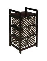 Badger Basket 3 Drawer Hamper/Storage Unit, Espre