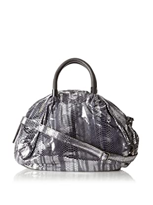 Chez by Cheryl Women's Allesandra Large Satchel, Metallic Slate