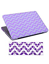 """HDE Designer Art Pattern Hard Shell Case Snap Protective Cover + Keyboard Skin for Macbook Pro 13"""" (Non-Retina) - Fits Model A1278 (Purple Chevron)"""