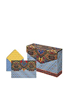 Punch Studio Set of 3 Flip Top Box Notes (Blue Paisley)