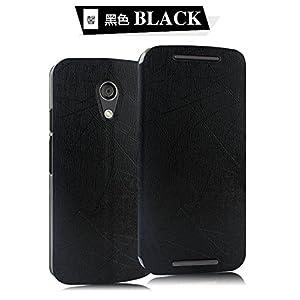 Pudini Back Case For Motorola Moto G (2nd Gen) (Black)
