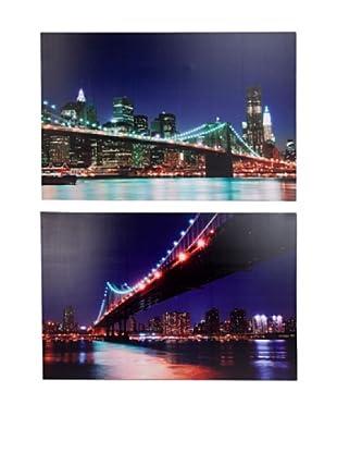Set de 2 Lienzos Puente NY