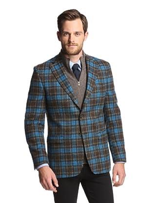 Simon Spurr Men's Plaid 2-Button Sportcoat (Blue/Black)