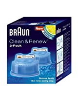 Braun Clean & Renew Cartridge, Pack of 2