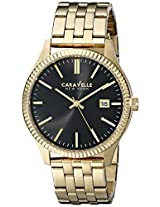 Caravelle by Bulova Dress Analog Champagne Dial Men's Watch - 44B105