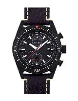 Nautica Black Men Leather Watch A15590