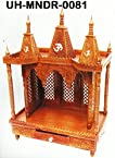 Handcrafted Wooden Temple / Mandir for home and office in Sheesham Wood