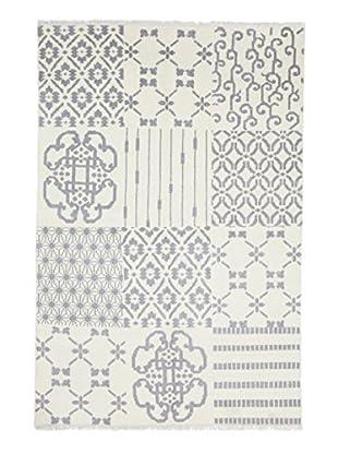 Darya Rugs Modern Oriental Rug, Off-White, 6' x 8' 10