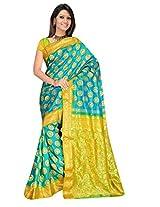 Sehgall Sarees Indian Professional Green Hand Emboridery Saree