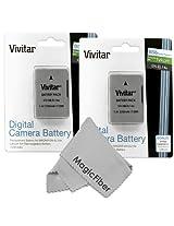 (2 Pack) Vivitar EN-EL14 Ultra High Capacity 1900mAH Li-ion Batteries for NIKON DSLR D5300 D5200 D5100 D3200 D3100, COOLPIX P7800 P7700 P7100 P7000 (Nikon EN-EL14 Replacement)