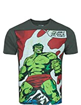 Zovi Cotton Hulk Grey Graphic Print T-shirt 102636004010M