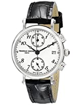 "Frederique Constant Women's FC291A2R6 ""Classics"" Stainless Steel Watch with Black Leather Band"