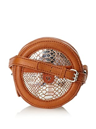 Charlotte Ronson Women's Silver Snake Canteen, Cognac, One Size