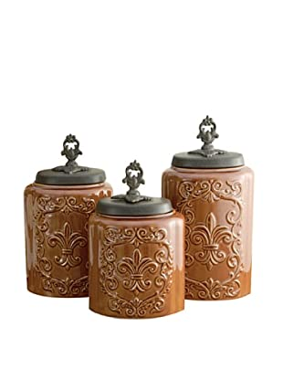 American Atelier Set of 3 Canisters (Brown Antique)