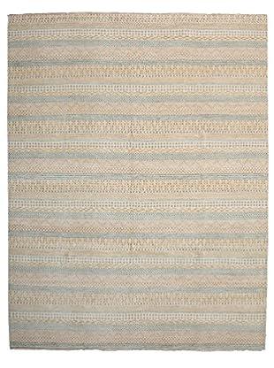 Darya Rugs Modern Oriental Rug, Light Blue, 8' x 10' 3