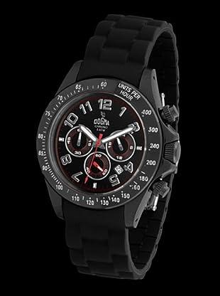 Dogma CRONO240 - Reloj de Caballero movimiento de quarzo con correa de caucho negro