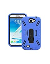 ESI Blue Hybrid Combo case For Samsung Galaxy Note 2 N7100
