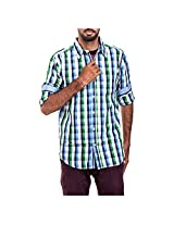 Urban Polo Club Green Multicolored Shirt Extra Large- Full Sleeve