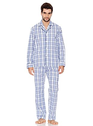 Kiff-Kiff Pijama Largo Tela Hombre (Azul)