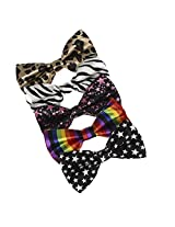 DBF0148 Boyfriend Pre-Tied Bowties Multi-colored Microfiber 5 Pack Set Bow ties By Dan Smith