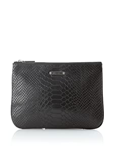 Rebecca Minkoff Women's Erin Embossed Snake Wallet (Black)