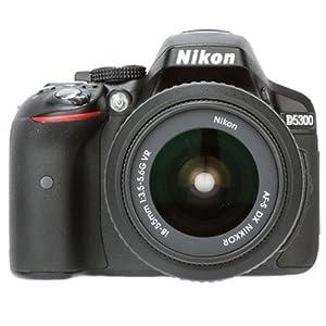 Nikon D5300 24.2MP Digital SLR Camera (Black) with AF-P 18-55mm VR Kit Lens, 8GB Card and Camera Bag