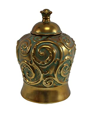 Molina Urn, Gold/Green
