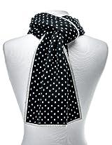 Noble Mount Mens Wool Blend Premium Scarf - Black/Beige